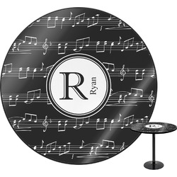 "Musical Notes Round Table - 30"" (Personalized)"