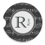 Musical Notes Sandstone Car Coasters (Personalized)