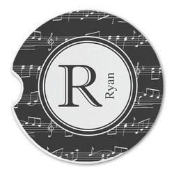 Musical Notes Sandstone Car Coaster - Single (Personalized)