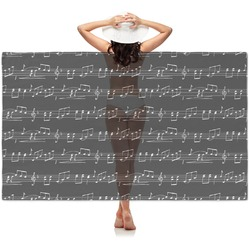 Musical Notes Sheer Sarong (Personalized)