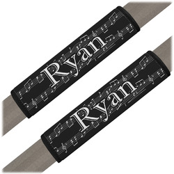Musical Notes Seat Belt Covers (Set of 2) (Personalized)