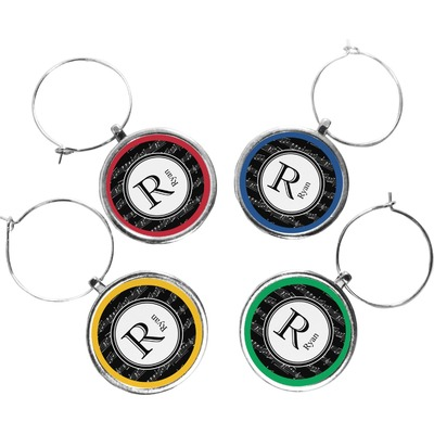 Musical Notes Wine Charms (Set of 4) (Personalized)