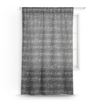 Musical Notes Sheer Curtains (Personalized)