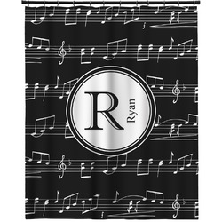 """Musical Notes Extra Long Shower Curtain - 70""""x84"""" (Personalized)"""