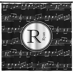 Musical Notes Shower Curtain (Personalized)