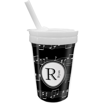 Musical Notes Sippy Cup with Straw (Personalized)