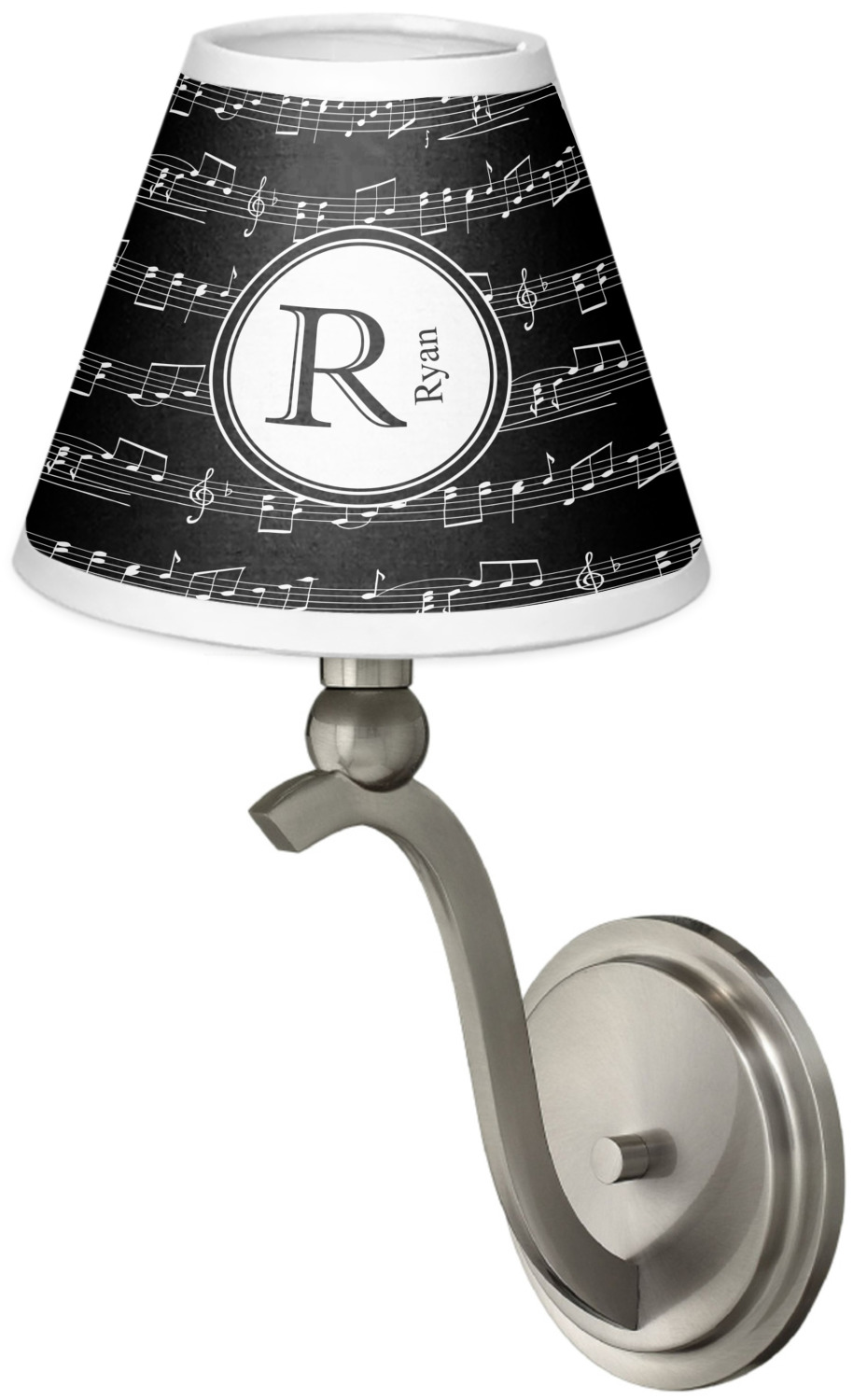 Musical Notes Chandelier Lamp Shade Personalized