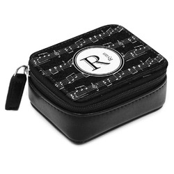 Musical Notes Small Leatherette Travel Pill Case (Personalized)