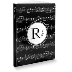 Musical Notes Softbound Notebook (Personalized)