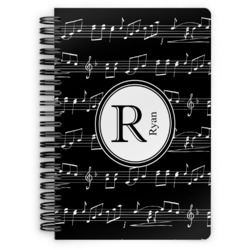 Musical Notes Spiral Bound Notebook (Personalized)
