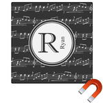 Musical Notes Square Car Magnet (Personalized)
