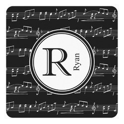Musical Notes Square Decal - Custom Size (Personalized)