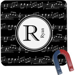 Musical Notes Square Fridge Magnet (Personalized)