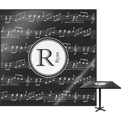 Musical Notes Square Table Top (Personalized)