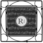 Musical Notes Square Trivet (Personalized)