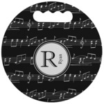 Musical Notes Stadium Cushion (Round) (Personalized)