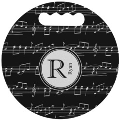 Musical Notes Stadium Cushion (Round) (Personalized)