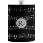 Musical Notes Stainless Steel Flask (Personalized)