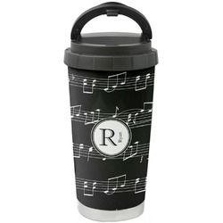 Musical Notes Stainless Steel Travel Mug (Personalized)