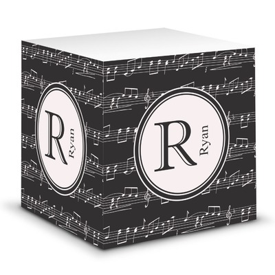Musical Notes Sticky Note Cube (Personalized)