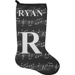 Musical Notes Christmas Stocking - Single-Sided - Neoprene (Personalized)