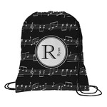 Musical Notes Drawstring Backpack (Personalized)