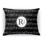 Musical Notes Rectangular Throw Pillow Case (Personalized)