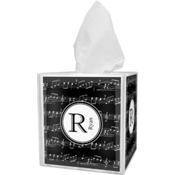 Musical Notes Tissue Box Cover (Personalized)