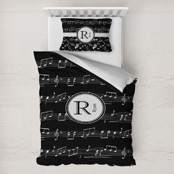 Musical Notes Toddler Bedding w/ Name and Initial