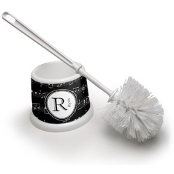 Musical Notes Toilet Brush (Personalized)