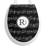 Musical Notes Toilet Seat Decal (Personalized)