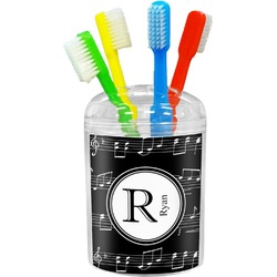 Musical Notes Toothbrush Holder (Personalized)