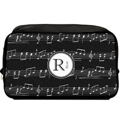 Musical Notes Toiletry Bag / Dopp Kit (Personalized)