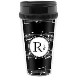 Musical Notes Travel Mugs (Personalized)