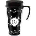 Musical Notes Travel Mug with Handle (Personalized)