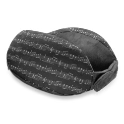Musical Notes Travel Neck Pillow (Personalized)