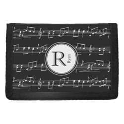 Musical Notes Trifold Wallet (Personalized)