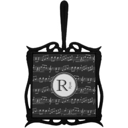 Musical Notes Trivet with Handle (Personalized)