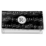 Musical Notes Vinyl Checkbook Cover (Personalized)