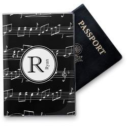 Tropical Leaves Vinyl Passport Holder Personalized
