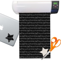 Musical Notes Sticker Vinyl Sheet (Permanent)