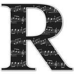 Musical Notes Letter Decal - Custom Sized (Personalized)