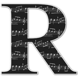 Musical Notes Letter Decal - Custom Sizes (Personalized)