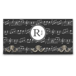 Musical Notes Wall Mounted Coat Rack (Personalized)