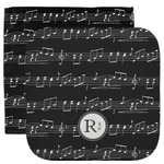 Musical Notes Facecloth / Wash Cloth (Personalized)