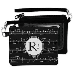 Musical Notes Wristlet ID Case w/ Name and Initial