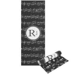 Musical Notes Yoga Mat - Printable Front and Back (Personalized)