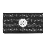 Musical Notes Leatherette Ladies Wallet (Personalized)