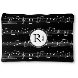 """Musical Notes Zipper Pouch - Small - 8.5""""x6"""" (Personalized)"""