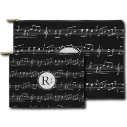 Musical Notes Zipper Pouch (Personalized)
